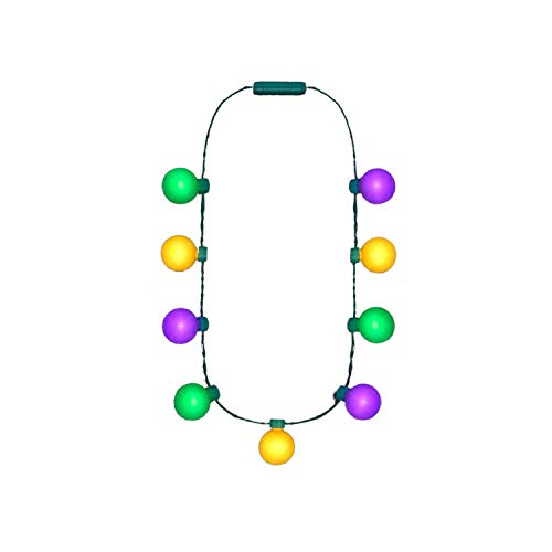 Mardi Gras 25in Long Mardi Gras Light Up Necklace