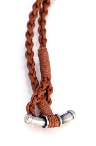 Bico Salote Pendentif Noué Dans Un Cordon De Coton Tissé A La Main (SR7) - cœur noble avec une touche commune - Tribal Île Bijoux