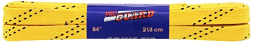 (Proguard Sonic Tipped Waxed Hockey Lace  , Yellow, 120-Inch)