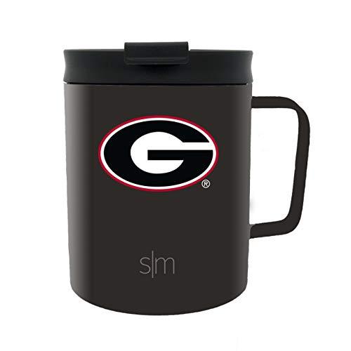 University Bulldogs Georgia (Simple Modern University of Georgia 12oz Scout Coffee Mug - Vacuum Insulated UGA Bulldogs 18/8 Stainless Steel Travel Tumbler Powder Coated Tea Cup)
