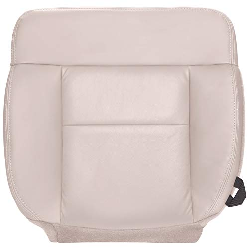 The Seat Shop Driver Bottom Replacement Seat Cover - Light Parchment (Tan) Leather (Compatible with 2004 Ford F150 Lariat)