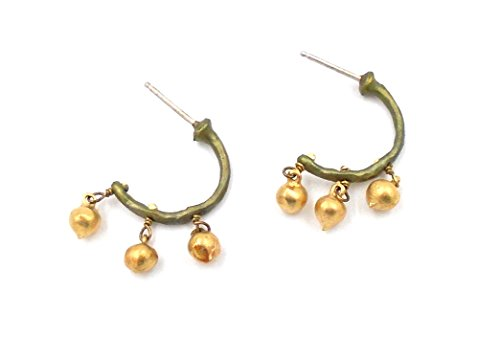 ''String of Beads'' Small hoop Earrings by Michael Michaud for Silver Seasons by Michael Michaud