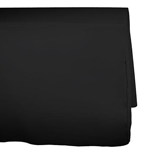 DII 100% Polyester Commercial Quality, Wrinkle & Stain Resistant Banquet Tablecloth 6 Foot Fitted - Black 100% Polyester Banquet Tablecloth