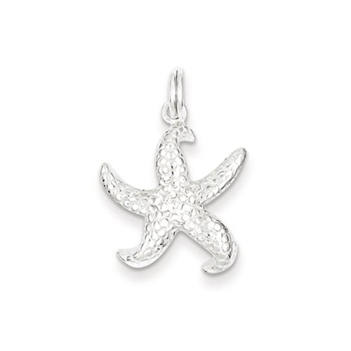 Sterling Silver Textured Starfish Charm or Pendant