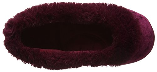 Ballet Berry Chaussons Femme Slippers Velour Crushed Rose Isotoner 8fwEn