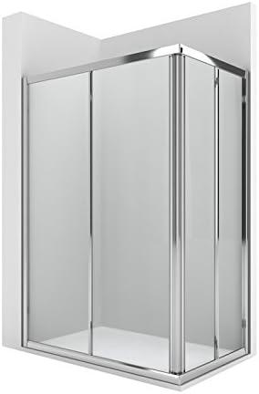 Roca AM176A2012 - Vertice ducha 2 puertas enmarcadas con dos segmentos fijos con guia inferior: Amazon.es: Bricolaje y herramientas