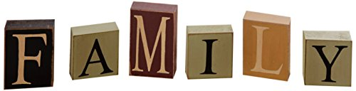 (Your Heart's Delight Family Wooden Block Set, 15 by 3-1/2 by 1-Inch)