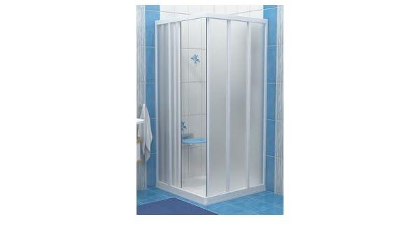 Ravak SRV3-90 blanco/transparente puerta corredera de 900 x 800 mm de entrada del recinto: Amazon.es: Hogar