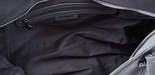 Desigual BAG GEMINI ROTTERDAM, Borsa a cartella Donna, nero/rosso