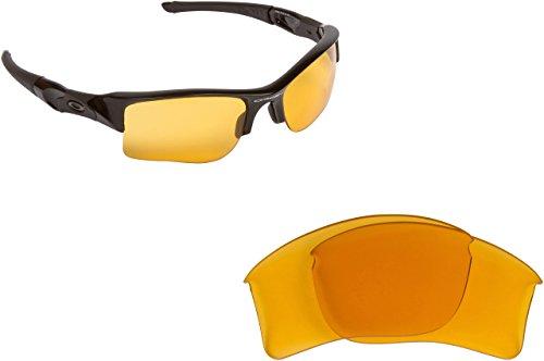 New SEEK Replacement Lenses Oakley FLAK JACKET XLJ - Polarized Hi Intensity Yellow