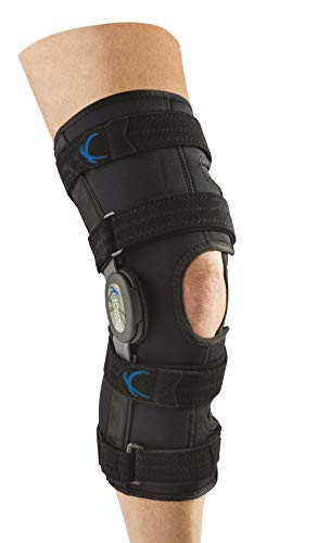 United Ortho 300250-07 Tall Neoprene Wraparound Hinged Knee Support Brace, Large