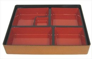 Japanese Bento Box 6 Compartmets 11.75x9.5in Gold by JapanBargain