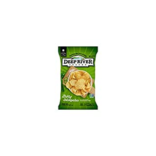 Deep River Snacks Kettle Chips, Zesty Jalapeno, 5 Ounce