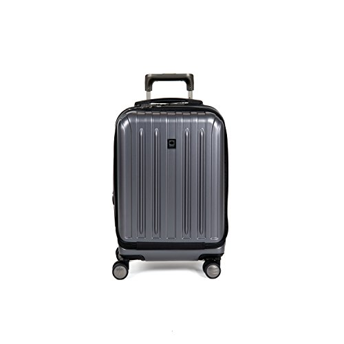 Delsey Luggage Helium Titanium International Carry-On EXP Spinner Trolley Metallic, Graphite, One Size