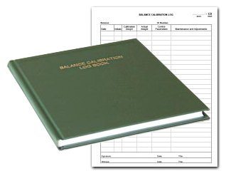 BookFactory Balance Calibration Log Book - 168 Pages, Green Imitation Leather Cover, Hardbound, 8 7/8