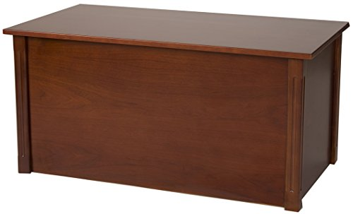 (Large Cherry Wooden Toy Box and Blanket Chest - All Wood - Optional Cedar Base (CedarBase))