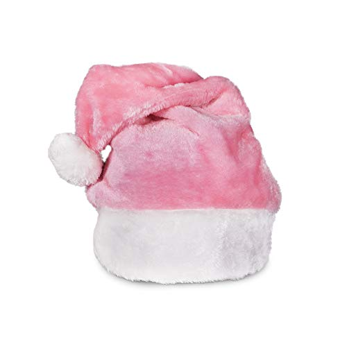 Pink Plush Christmas Santa Hat