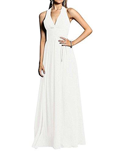 Jugendweihe Marie Damen V A Linie Weiß Abendkleider Kleider Braut Brautjungfernkleider Ausschnitt La Lang BaCEqncq