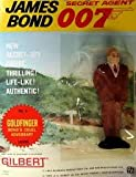 James Bond Vintage Gilbert Movie Figure # 6 GOLDFINGER: Bond's Cruel Adversary - on Original 1965 Era Card