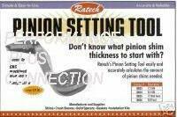 Pinion Setting Tool 12 Bolt GM Trk Ratech Part #10010