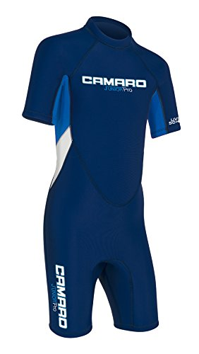 Camaro Junior Flex Shorty Wetsuits, Blue/Blue, 12