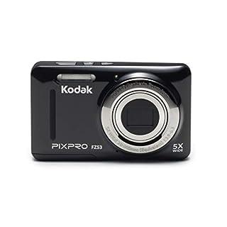 "Kodak PIXPRO Friendly Zoom FZ53-BK 16MP Digital Camera with 5X Optical Zoom and 2.7"" LCD Screen (Black) (Renewed)"