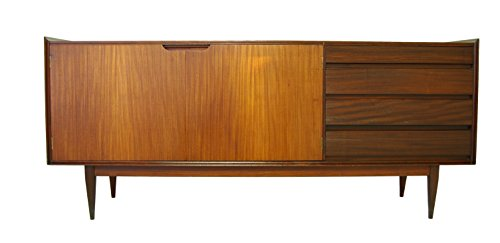 Large Mid Century Credenza or Media Console with contrasting grain (Rosewood Credenza)