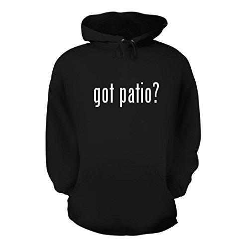 got patio? - A Nice Men's Hoodie Hooded Sweatshirt, Black, Large (Strathwood Furniture Outdoor)