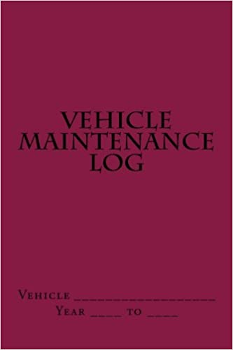 Vehicle Maintenance Log Maroon Cover S M Car Journals S M