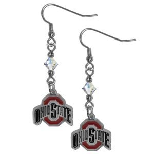 State Crystal Ohio - NCAA Ohio State Buckeyes Crystal Dangle Earrings