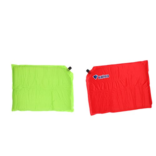 Flameer 2pcs Portable Waterproof Inflatable Pad For Camping Cushion Seat Moisture-proof Red Green by Flameer