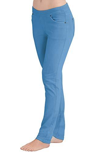 PajamaJeans Women's Skinny Stretch Knit Denim Jeans, Cool Blue, Large / 12-14