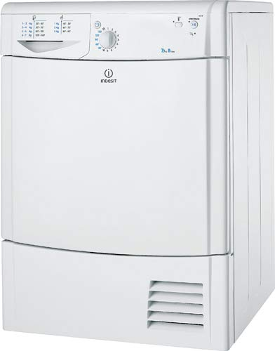 Indesit IDC75B 7Kg Dryer for Fast & Efficient Drying – Extremely Quiet – with Criss-Cross Two-Way Action to Prevent Wrinkling – Removable Filter