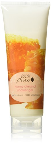 Organic Shower Gel by 100% Pure, Honey Almond, 8 oz