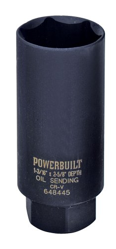 "Powerbuilt 648445 Oil Pressure Sender Socket 1/2"" Dry"