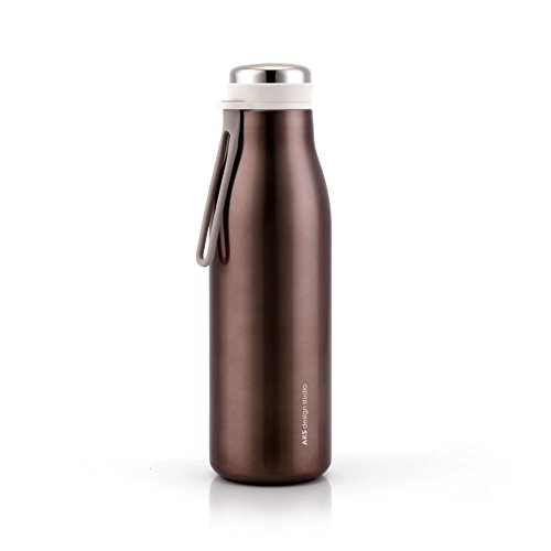 AKS Vacuum Insulated Water Bottle, Double Wall 18/8 Stainless Steel 12 Ounce, BPA Free Leak Proof Sweat Proof Cool Insulation Thermos Coffee Flask