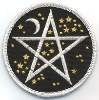 "3"" Starry Pentagram Embroidered Cloth Patch, PA11 for sale  Delivered anywhere in USA"