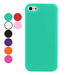 Solid Color Soft Case for iPhone 5/5S (Assorted Colors) --- COLOR:Green