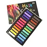 Temporary Hair Chalk Set Non-Toxic Hair Color Cream Rainbow Color Hair Dye(24pcs)
