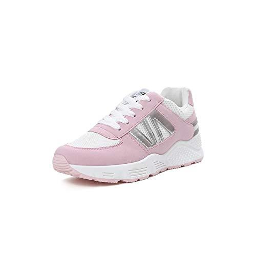 Mujer de Black Mesh Gris Flat Heel ZHZNVX Summer Comfort amp; Negro Zapatos Rosa Spring Sneakers wCaxxE4q