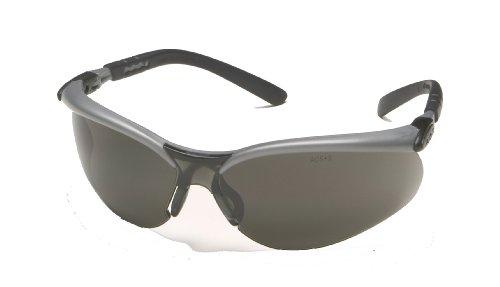 3M 11381 Anti Fog Safety Glasses  Silver Black Frame  Gray Lens