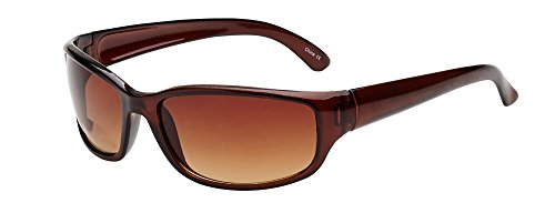 Coppertone Men's Sunglass Readers, Rectangular Reading Sunglasses, Brown, 1.50 from Coppertone