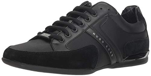 Hugo Boss Men's Spacit Fashion Sneaker,Black,8 M US