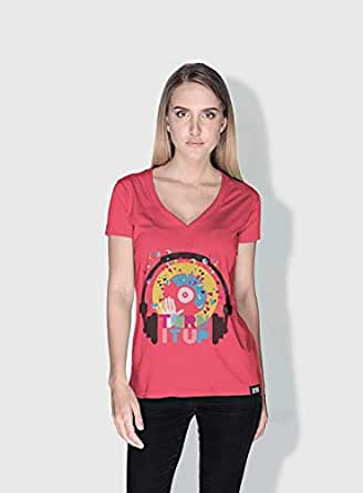 Creo Turn It Up Trendy T-Shirts For Women - Xl, Pink