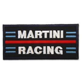 MARTINI RACING LOGO 10,0 CM Parche Parches Termoadhesivos,Parche Bordado Para la Ropa Termoadhesivo