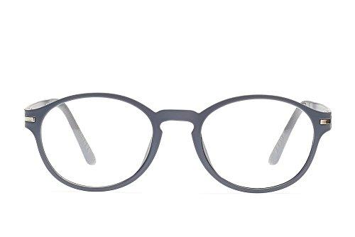 209c5320059 Massimo Milano Oliver Retro Style Round Eyeglasses Frame Clear Lens Glasses  (grey)