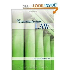 Read Online Constitutional Law 12th (Twelveth) Edition byKanovitz PDF