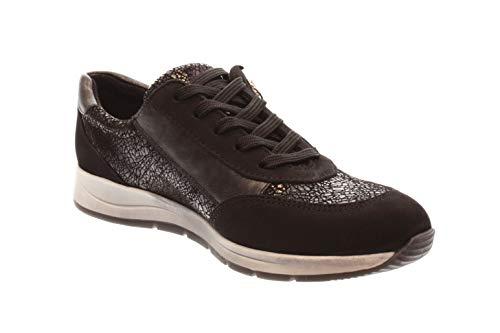 Schwarz Basses Femmes 1012464 Noir Longo schwarz G bronce Chaussures bronce tpqnxxCwa