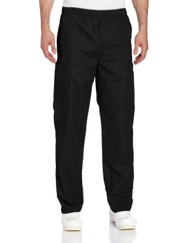 Landau Men's Cargo Scrub Pant, Black, (Landau Unisex Scrub Top)