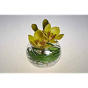 Flamingo Imports Artificial Flower- Orchid in Glass Bowl 20